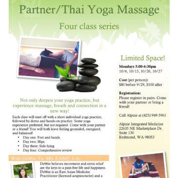 Partner/Thai Yoga Massage – Four part series